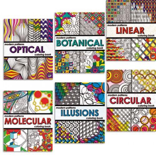 Modern Patterns Coloring Books - Set of 6