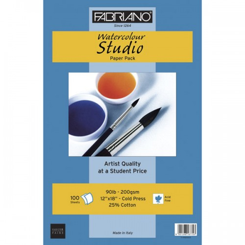 Fabriano<sup>®</sup> Studio Watercolor Paper - Pkg of 100